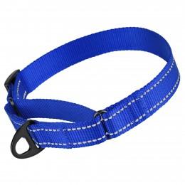 Ошейник для собак Мартингейл Bronzedog Active нейлоновый со светоотражением синий