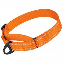 Ошейник для собак Мартингейл Bronzedog Active нейлоновый со светоотражением оранжевый