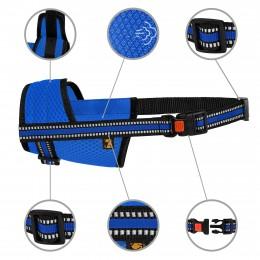 Намордник для собак Bronzedog Mesh дышащий регулируемый  3D сетка Синий