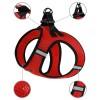 Шлея для собак Bronzedog Mesh Vest 3D сетка красная