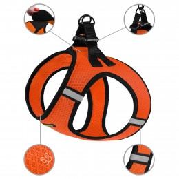 Шлея для собак Bronzedog Mesh Vest 3D сетка оранжевая