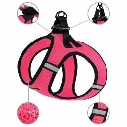 Шлея для собак Bronzedog Mesh Vest 3D сетка розовая