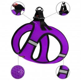 Шлея для собак Bronzedog Mesh Vest 3D сетка фиолетовая