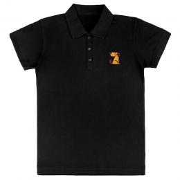 Футболка Polo мужская черная TM Bronzedog