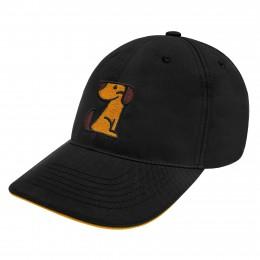 Кепка черная TM Bronzedog, логотип по центру