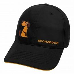 Кепка черная TM Bronzedog, логотип сбоку