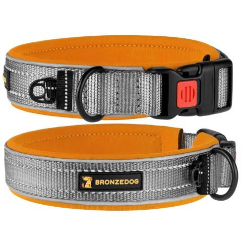 Ошейник для Собак BronzeDog Sport Серо - Оранжевый
