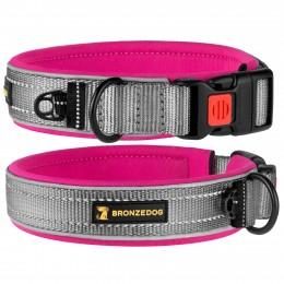 Ошейник для Собак BronzeDog Sport Серо - Розовый