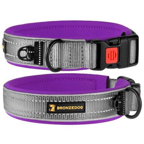 Ошейник для Собак BronzeDog Sport Серо - Фиолетовый