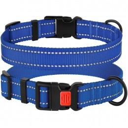 Ошейник для Собак BronzeDog Active Нейлоновый со Светоотражением и Пластиковой Пряжкой Синий