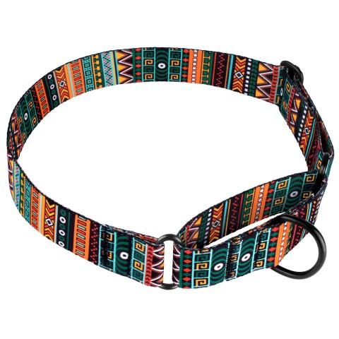 Ошейник Мартингейл для Собак Tribal Этнический Нейлоновый c Металлической Фурнитурой
