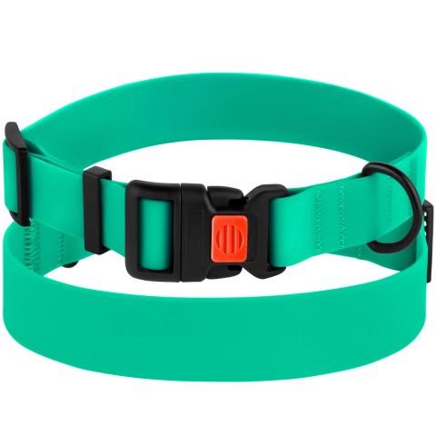 Ошейник для Собак BronzeDog Active Водоотталкивающий с Защитным Полимерным Покрытием и Пластиковой Пряжкой Зеленый