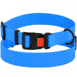 Ошейник для Собак Водоотталкивающий с Защитным Полимерным Покрытием Голубой