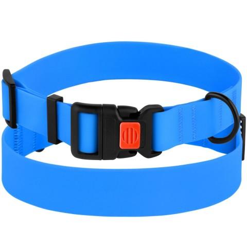 Ошейник для Собак BronzeDog Active Водоотталкивающий с Защитным Полимерным Покрытием и Пластиковой Пряжкой Голубой