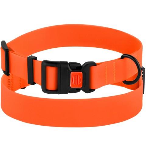 Ошейник для Собак BronzeDog Surf Водоотталкивающий с Защитным Полимерным Покрытием и Пластиковой Пряжкой Оранжевый