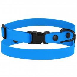 Ошейник для собак мелких пород Bronzedog Surf пластиковая пряжка водоотталкивающий с защитным полимерным покрытием голубой