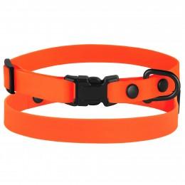 Ошейник для Собак Мелких Пород BronzeDog Surf Пластиковая Пряжка Водоотталкивающий с Защитным Полимерным Покрытием Оранжевый