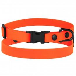 Ошейник для Собак Мелких Пород BronzeDog Surf Металлическая Пряжка Водоотталкивающий с Защитным Полимерным Покрытием Оранжевый