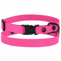 Ошейник для собак мелких пород Bronzedog Surf пластиковая пряжка водоотталкивающий с защитным полимерным покрытием розовый