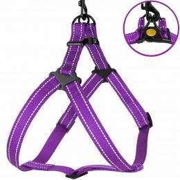 Шлея для Собак BronzeDog Active Нейлоновая со Светоотражением Фиолетовая