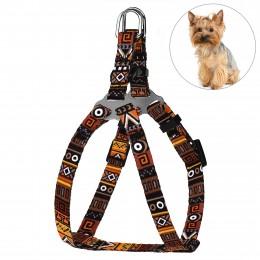 Шлея для Собак Мелких Пород BronzeDog Urban Этническая Оранжевая