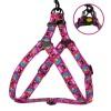 Шлея для собак BronzeDog Urban Маска нейлоновая c металлической фурнитурой розовая