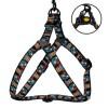 Шлея для собак BronzeDog Urban Маска нейлоновая c металлической фурнитурой черная