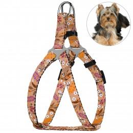 Шлея для Собак Мелких Пород BronzeDog Urban Цветы Бежевая