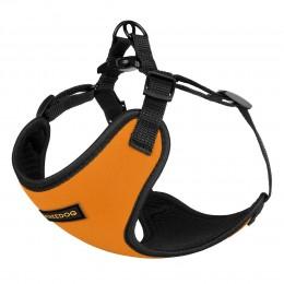 Шлея для Собак Мелких Пород BronzeDog Sport Неопрен 3D Сетка Оранжевая