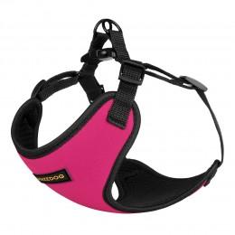 Шлея для Собак Мелких Пород BronzeDog Sport Неопрен 3D Сетка Розовая