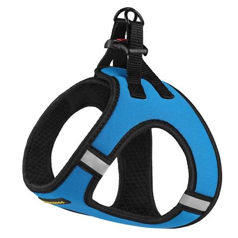 Шлея для собак Bronzedog Sport Vest неопрен 3D сетка голубая
