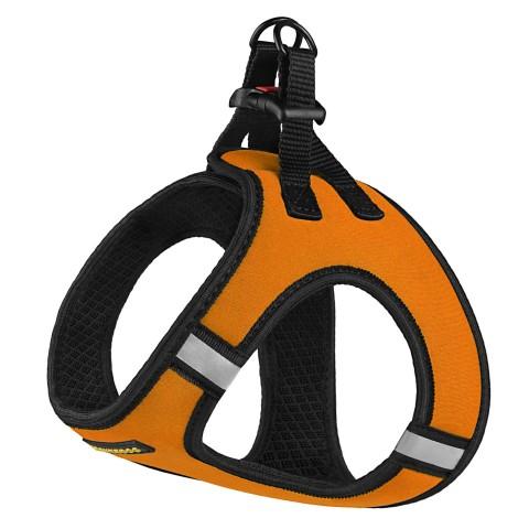 Шлея для собак Bronzedog Sport Vest неопрен 3D сетка оранжевая