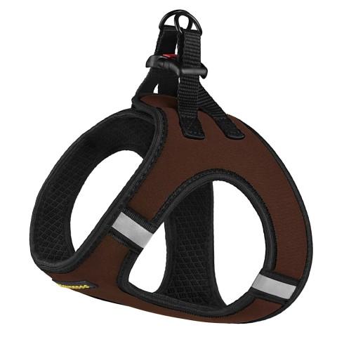 Шлея для собак Bronzedog Sport Vest неопрен 3D сетка коричневая