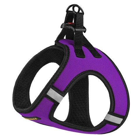Шлея для собак Bronzedog Sport Vest неопрен 3D сетка фиолетовая
