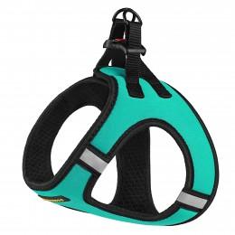 Шлея для собак Bronzedog Sport Vest неопрен 3D сетка бирюзовая