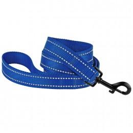 Поводок для Собак Bronzedog Active Нейлоновый со Светоотражением Синий
