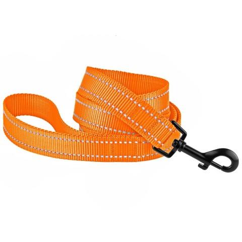 Поводок для Собак Bronzedog Active Нейлоновый со Светоотражением Оранжевый