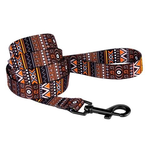 Поводок для Собак Bronzedog Urban Этнический Нейлоновый Оранжевый