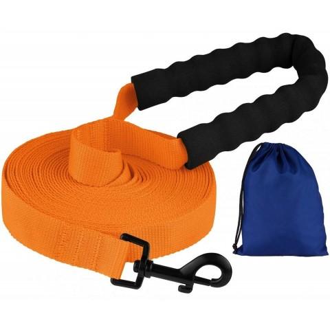 Поводок для Собак Bronzedog Active Нейлоновый с Мягкой Ручкой Оранжевый