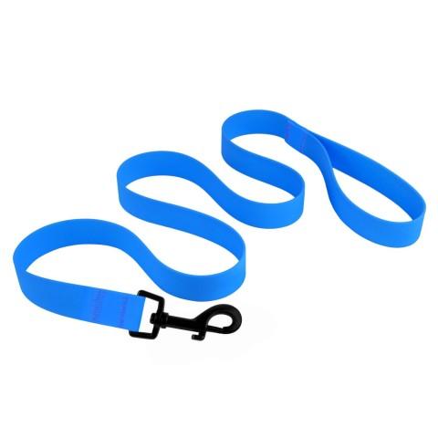Поводок для собак Bronzedog Surf водоотталкивающий с защитным полимерным покрытием голубой