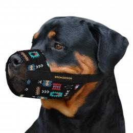 Намордник для собак Bronzedog нейлоновый регулируемый Ацтеки