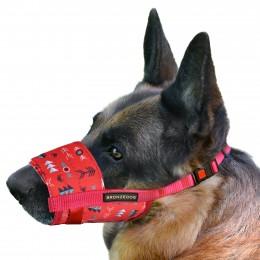 Намордник для собак Bronzedog нейлоновый регулируемый Инки
