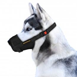 Намордник для собак Bronzedog дышащий регулируемый 3D сетка