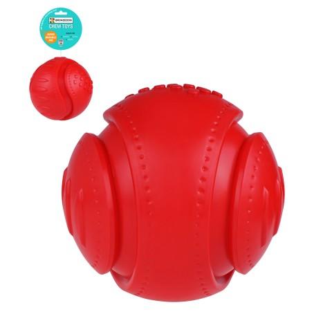 Игрушка для собак Bronzedog CHEW Звуковой футбольный мяч красный 15,2 см