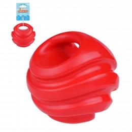 Игрушка для собак Bronzedog FLOAT плавающая Силовой мяч 11 см красный