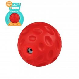Игрушка для собак Bronzedog FLOAT плавающая Звуковой мяч красный 7 см