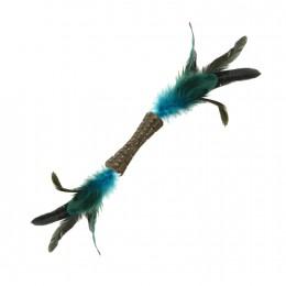 Игрушка для Кошек Gigwi Johnny Stick Кошачья Мята c Двойным Натуральным Пером 8 см