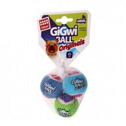 Игрушка для Собак Gigwi Ball Originals Мяч с Пищалкой Набор из 3 шт 4 см