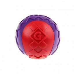 Игрушка для Собак Gigwi Ball Мяч с Пищалкой Красно-Фиолетовый