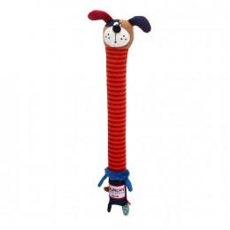 Игрушка для Собак Gigwi Crunchy Neck с Хрустящей Трансформирующейся Шеей и Пищалкой Собака 30 см